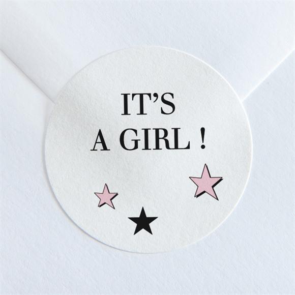 Aufkleber Geburt Super girl réf.N36085