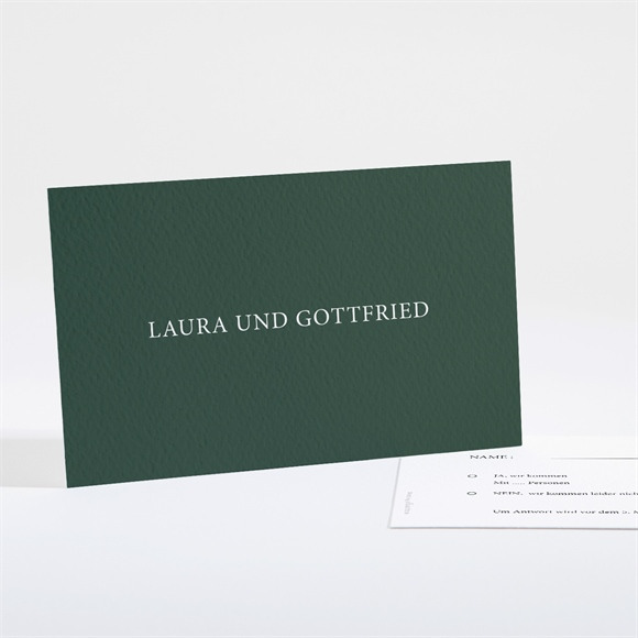 Antwortkarte Hochzeit Waldrand réf.N161118