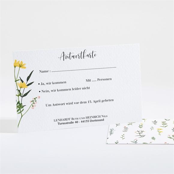 Antwortkarte Hochzeit Frühlingsfreude réf.N161122