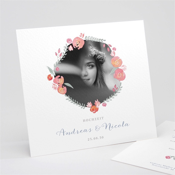 Einladungskarte Hochzeit Gekrönt réf.N311265