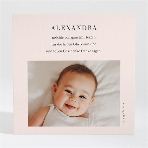 Danksagungskarte Geburt Foto mit Rahmen réf.N3001633