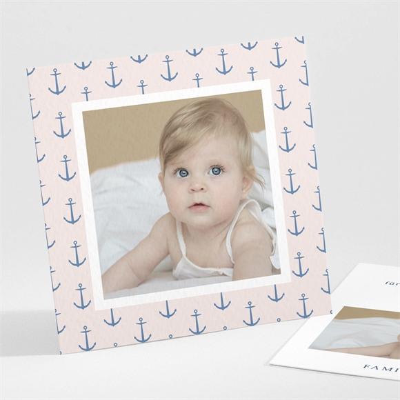 Danksagungskarte Geburt Ankermuster réf.N301248