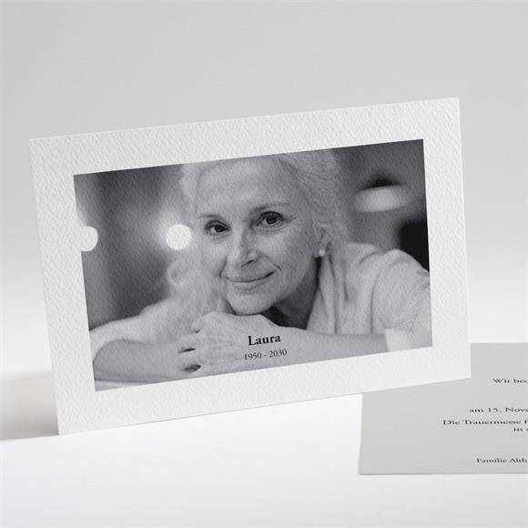 Trauerkarten Zärtlich mit Foto réf.N14197