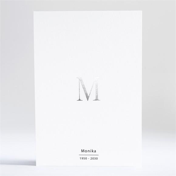Trauerkarten Silberne Initiale réf.N241231
