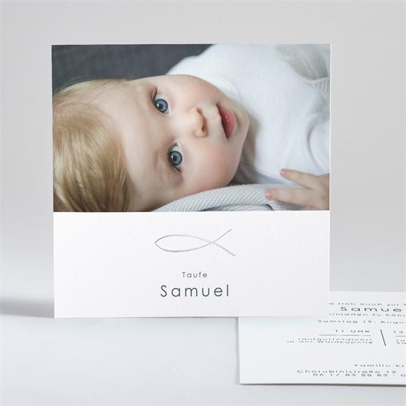 Einladungskarte Taufe Schöne Seele réf.N351126