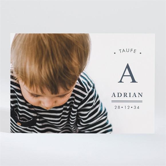 Einladungskarte Taufe Initial réf.N11036