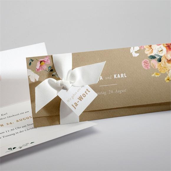 Einladungskarte Hochzeit Land und Poesie réf.N94126