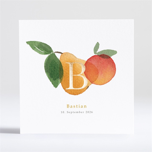 Geburtskarte Fruchtig réf.N351165