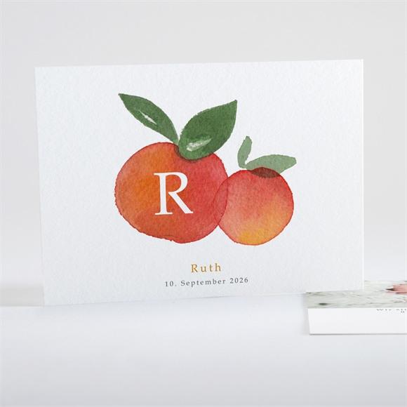 Geburtskarte Kleine Zitrusfrüchte réf.N15125