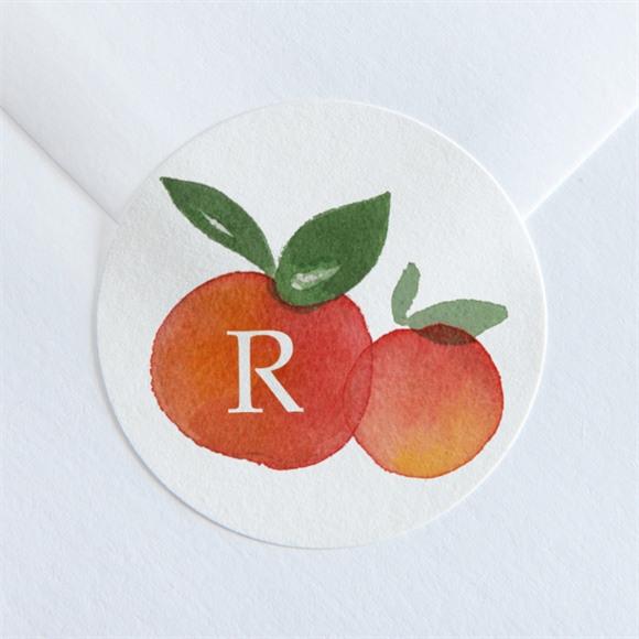 Aufkleber Geburt Kleine Zitrusfrüchte réf.N360171
