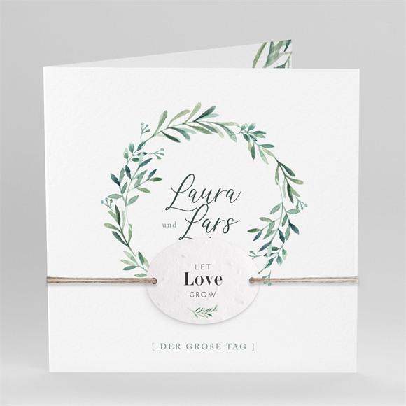 Einladungskarte Hochzeit Liebessamen réf.N451214