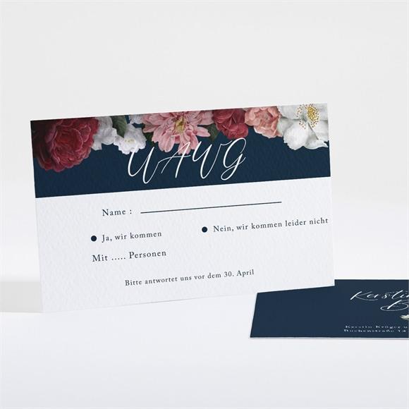 Antwortkarte Hochzeit Nachtblumen réf.N161135