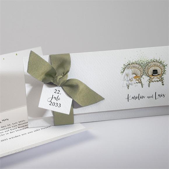 Einladungskarte Hochzeit Landkunstliebe réf.N94127
