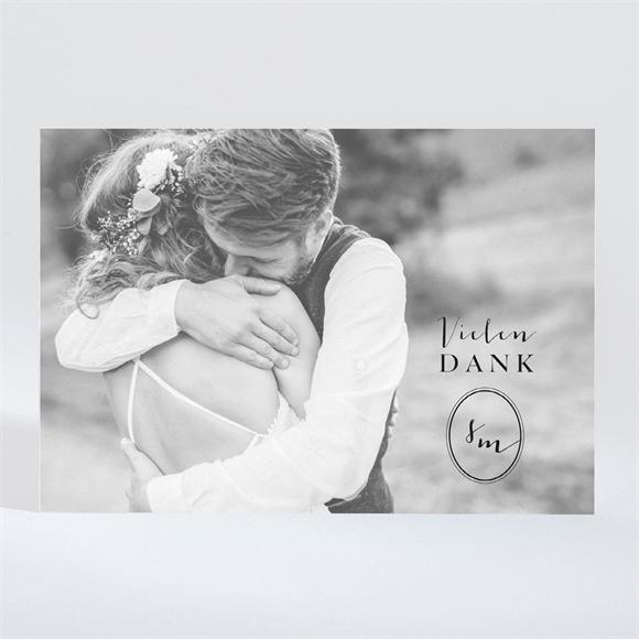 Danksagungskarte Hochzeit Reine Eleganz - magnet réf.N11030