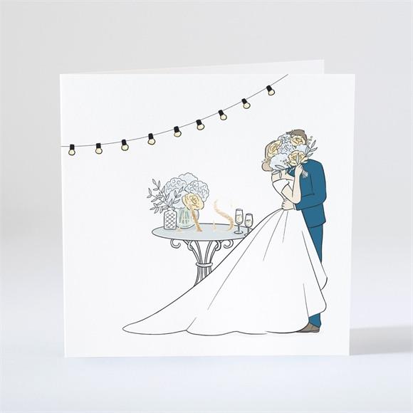 Einladungskarte Hochzeit Liebespaar réf.N46161