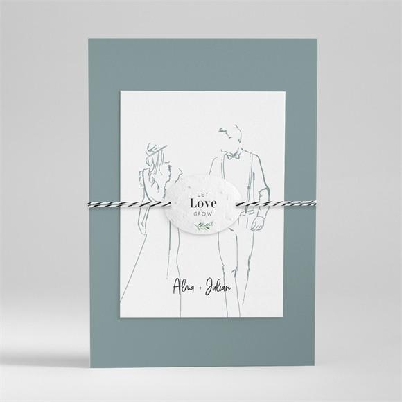 Einladungskarte Hochzeit Liebeszeichnung réf.N99133