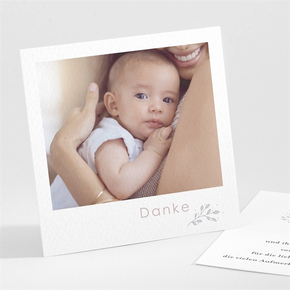Danksagungskarte Geburt Meine kleinen Schühchen réf.N301286