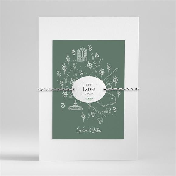 Einladungskarte Hochzeit Samenliebe réf.N99127