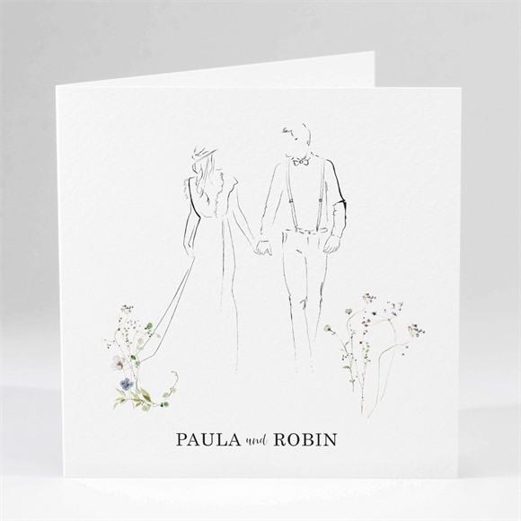 Einladungskarte Hochzeit Zu zweit réf.N451240