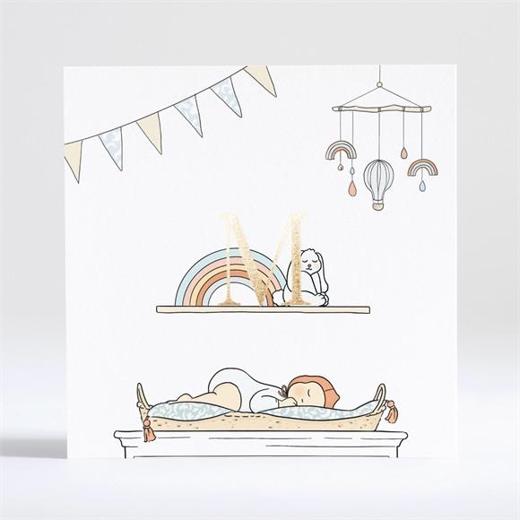 Geburtskarte Schöne Deko réf.N351185
