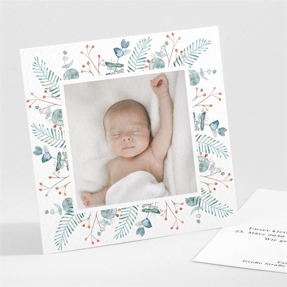 Geburtskarte Blätterrahmen réf.N301297