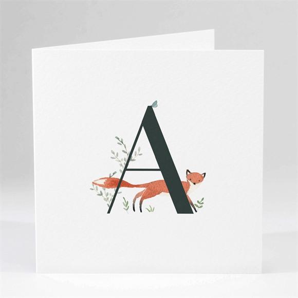 Geburtskarte Tieralphabet réf.N451238