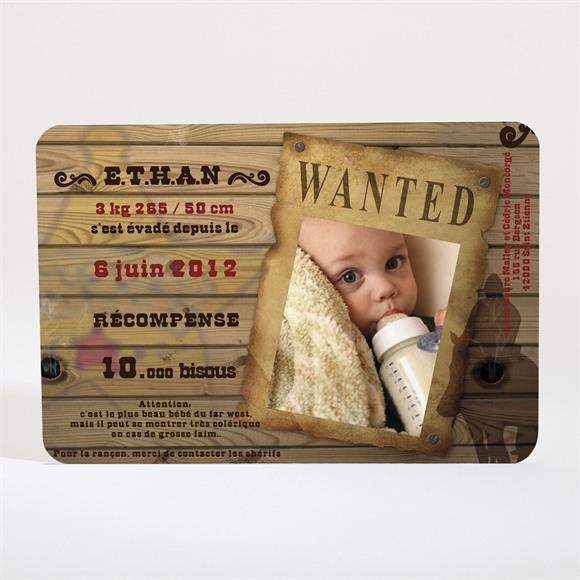 Faire-part naissance Wanted ! réf.N11002