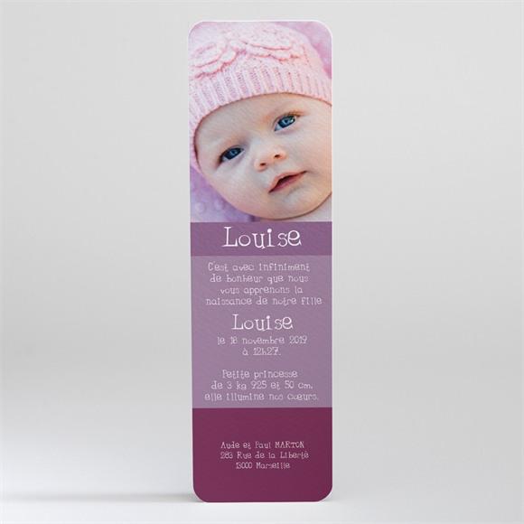 Faire-part naissance Teintes de violet réf.N20023
