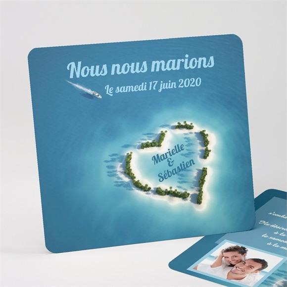Faire-part mariage Eaux turquoises réf.N31114