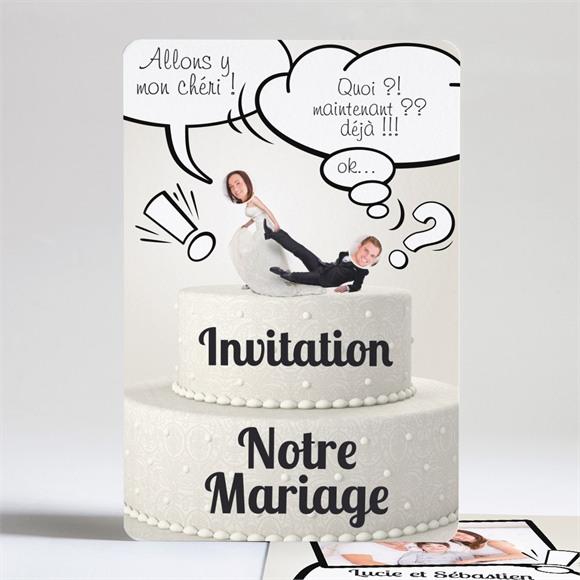 Faire-part mariage Notre Gâteau réf.N24112