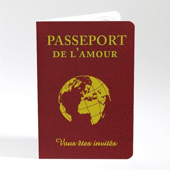 Faire-part mariage Passeport de l'Amour réf.N40180