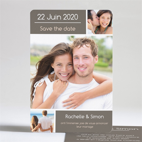 Faire-part mariage annonce originale et vintage réf.N24133
