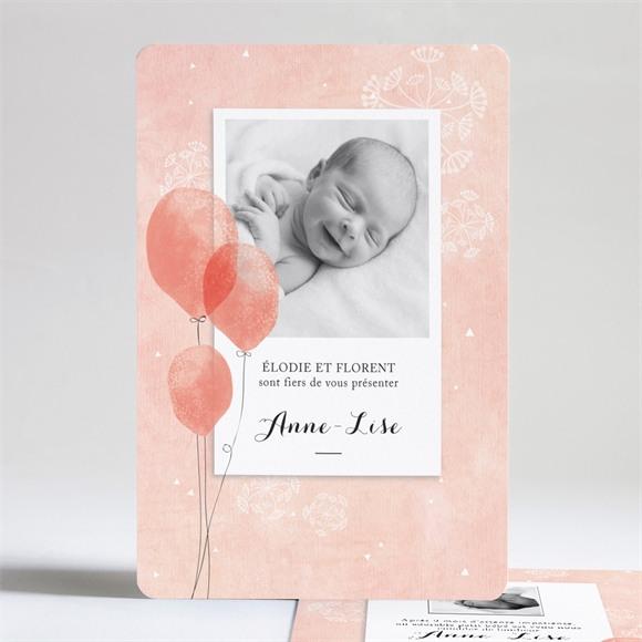 Faire-part naissance Petits ballons aquarelle réf.N24149
