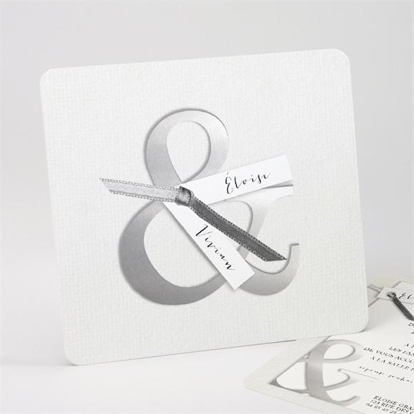 Faire-part mariage Esperluette et étiquettes réf.N31171