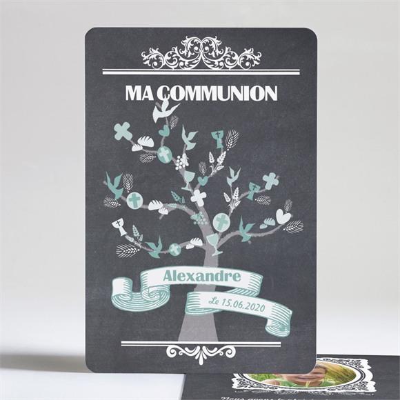 Faire-part communion Sacrement élégant réf.N24151