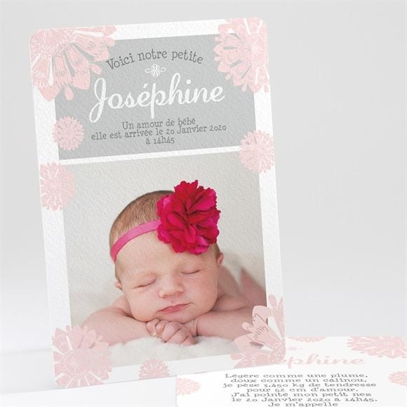Faire-part naissance Fleurette réf.N24154
