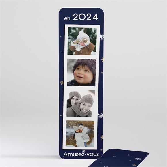 Carte de voeux Marque page polaroid réf.N20111