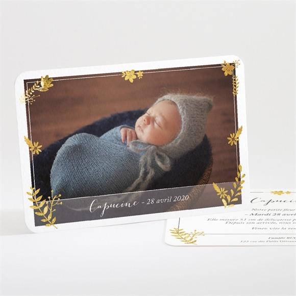 Faire-part naissance Feuillage Classique et Chic réf.N11153