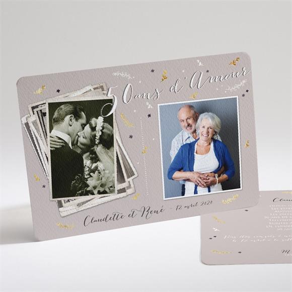 Invitation anniversaire de mariage Carte invitation avec photo réf.N14161