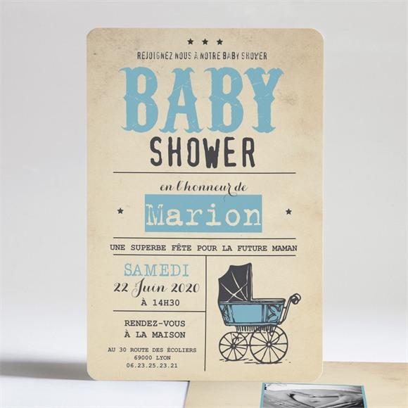 Faire-part baby shower Le partage réf.N24190