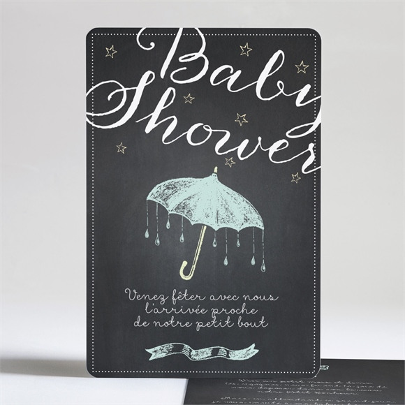 Faire-part baby shower Baby shower original ardoise réf.N24193