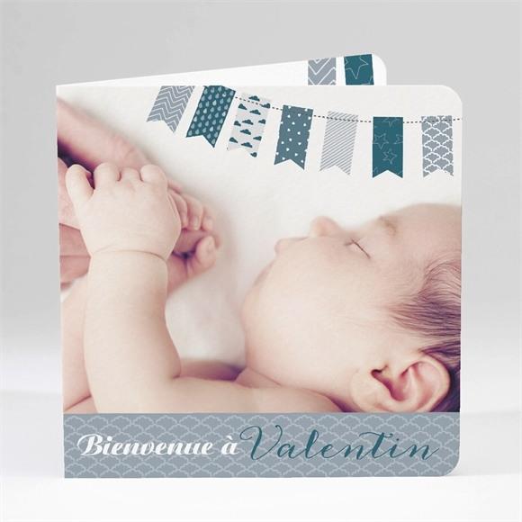 Faire-part naissance Touches de tissus réf.N45104