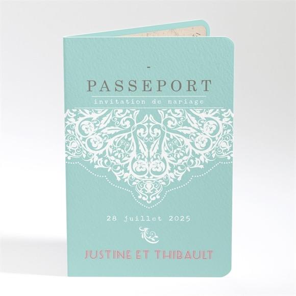 Faire-part mariage Passeport réf.N401606