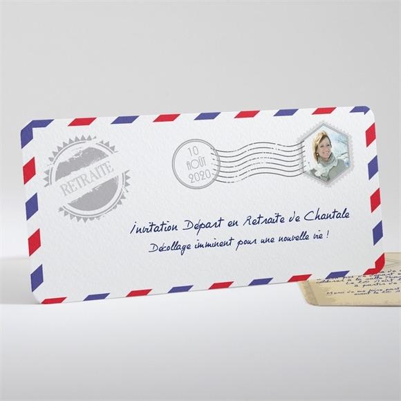 Carte invitation départ à la retraite Décollage imminent réf.N13160