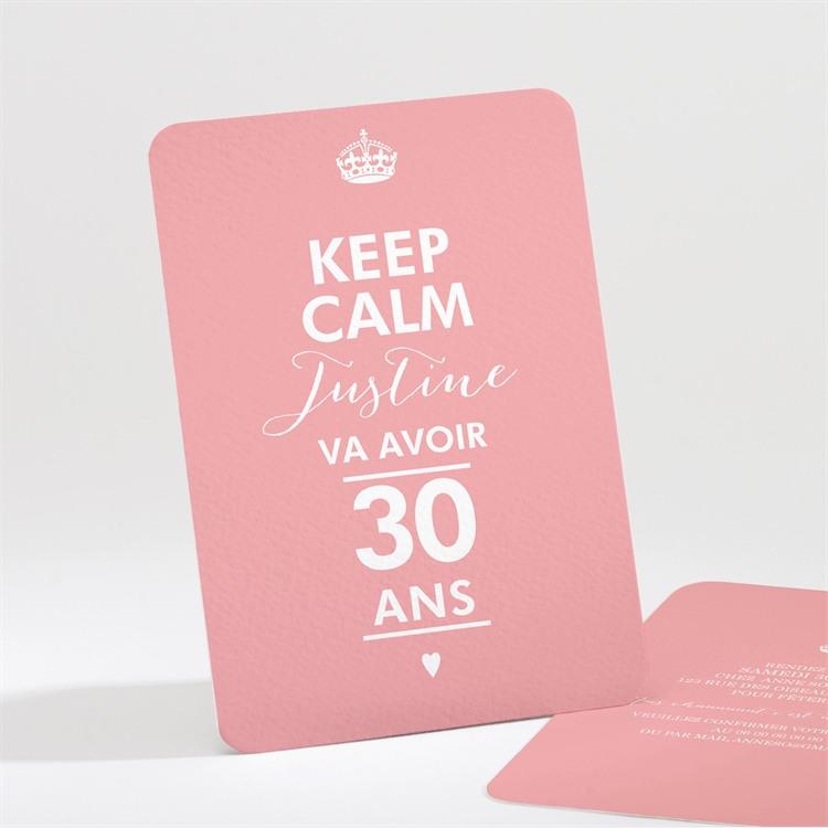 Invitation anniversaire Fêtons mes 30 bougies! réf.N211122