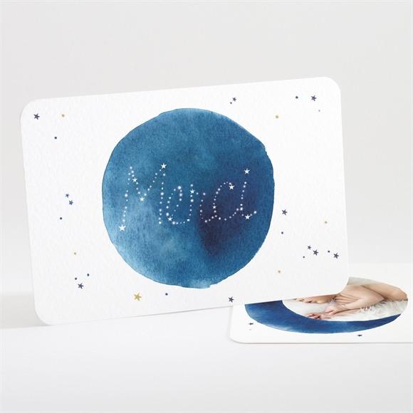 Remerciement naissance Nuit étoilée réf.N111216