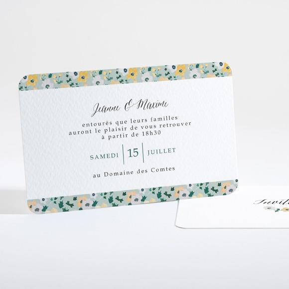 Carton d'invitation mariage Oui en relief réf.N16135