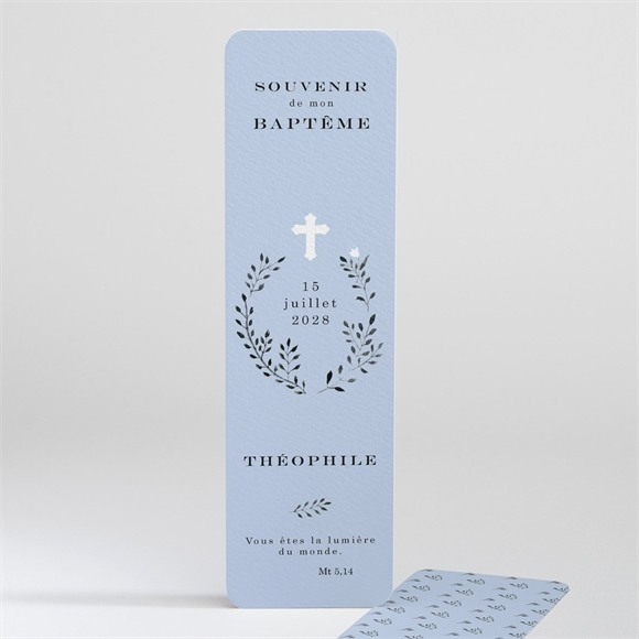 Signet baptême Annonce en relief réf.N20140