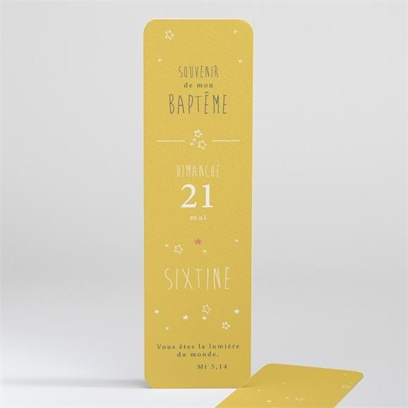 Signet baptême Jaune tendance réf.N20141