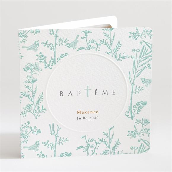 Faire-part de baptême Gravure en rond réf.N451138